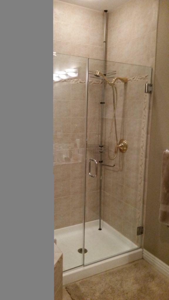 Shower Door installed in Kinderhook Camdenton also Osage Beach lake Ozark